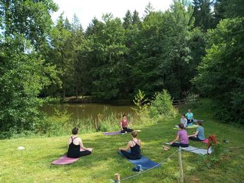 Yoga, Natur, Meditation, Achtsamkeit, See, Retreat