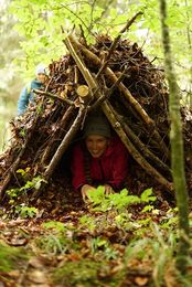 Bushcraft - Laubhütten  -Survival Shelter